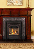 Save $300 on Antique Mahogany Barrington package with Black Windsor Front