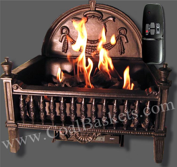 Aspen Gas Coal Burner In Ornate Basket